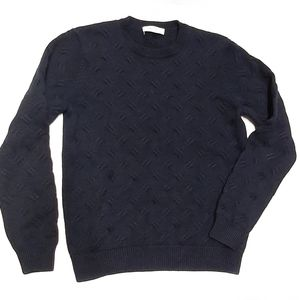 SANDRO Paris Merino Wool Chunky Sweater - Navy